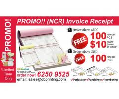 NCR -Receipt Book- Invoice Book Promotion! limited time only!