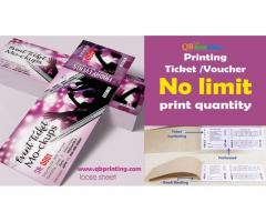 Print Ticket , Coupon & Voucher- We Print Any quantity!