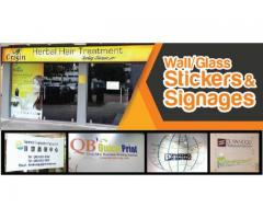 Signages & Wall,Glass Sticker